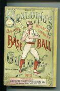 Spaldingand039s Official Baseball Guide-1910-historical-stats-4 1/4 X 6 3/8- Fn Minus