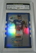 Bobby Witt Jr Metal Etch Auto /30 Leaf Perfect Game All American 2018 Mint 9