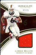 Lamar Miller Game Used Gu Jersey Patch Miami Hurricanes Canes College Worn /25