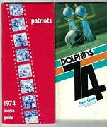 1974 Nfl Press And Media Guides Near Complete Set 24/26 Ex+