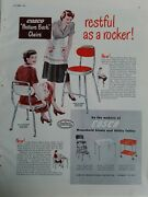 1949 Cosco Model 9f 9e Kitchen Chair Step Stool Utility Tables Vintage Ad