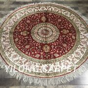 Yilong 5and039x5and039 Fine Hand Knotted Silk Area Carpets Bedroom Classic Round Rug W116c