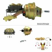 1964-72 Chevy Chevelle Fw Mount Pwr 8 Dual Brake Booster Kit Disc/drum Stop Pro