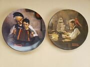 Vintage Norman Rockwell Decorative Plates Music Maker And The Ship Builder