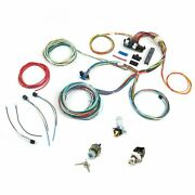 21 Circuit Easy Wiring Harness All Black Chevy Mopar Hotrods Universal