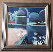 Christopher Assheton-stones 1947-1999 British Painting Blue Landscape Abstract