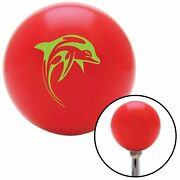 Green Dolphin Red Shift Knob With M16 X 1.5 Insert Component Parts Drag Race