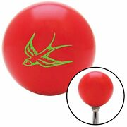 Green Swallow Red Shift Knob With M16 X 1.5 Insert 2 Din Chopper Racing