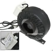 4 Inline 190cfm Hydroponics Duct Tube Exhaust Fan Blower 120v W/ Leather Sleeve