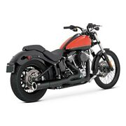 Vance And Hines 2-1 Pro - Pipe Black, For Harley - Davidson Softail 12-17