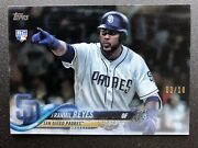 2018 Topps Update Clear Acetate Franmil Reyes Rookie Rc Us242 - D 03/10