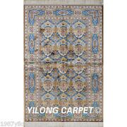 Yilong 4and039x6and039 Decorative Handmade Silk Area Rug Classic Oriental Carpet Sale 1950
