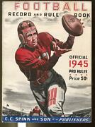 Football Record And Rule Book 1945-spink-official Pro Rules-ncaa-fn+