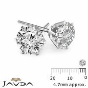 Round Diamond Light Weight Screw Back 1 Pair Womenand039s Stud Earring Gold 0.54 Ctw.