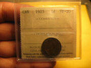 Canada 1923 Iccs Certified Vf-20 Small Cent Penny Idj2.