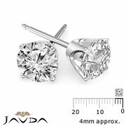 Round Cut Diamond 1 Pair Womenand039s Stud Earring Solid Gold Jewelry 0.46 Ctw.
