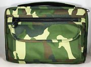 Bible Cover Embassy Camouflage New With Extra Zip Compartments 9 1/2 6 1/2 1 1/2