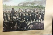 1942 Wwii, Print Bataan Death March , Japanese Print And Military Prints