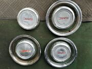 Set Of 4 Gmc Dog Dish Hubcaps Center Caps 1978 To 1994 10.5