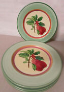 Villeroy And Boch French Noel Faience Dessert / Salad Plates Set Of 4 Portugal