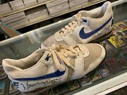 Warren Moon Houston Oilers 1 Game Used 2x Signed Nike Cleats Shoes Size 12 Jsa