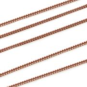 Rose Gold Plated Sterling Silver 1mm Curb Chain Bulk By The Foot Unfinished