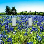 Light Switch Plate Cover Home Decor Texas Bluebonnets In A Field