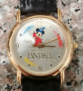 Fossil L.e. 2/2000 60years Fantasia Mans 33mm Mickey Mouse Character Watch Lot