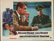 The Counterfeit Traitor 11x14 William Holden/wolfgang Preiss Lobby Card Poster
