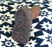 Primitive Farmhouse Wood Seahorse Butter Mold Stamp Press Ink Stamp Neat Design