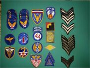 Wwii Lot Of 47 Us Army Air Force Corps Patches