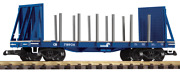 Piko G Scale New Products Two Pack Of New Bulkhead Flat Cars Drgw-conrail