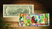 Cartoons Spiderman Mickey Mouse Maga Genuine Tender 2 Us Bill Signed By Rency