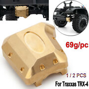 Brass Cover 69g Heavy Weight For Traxxas Trx-4 Rc Crawler Front Rear Axle Diff