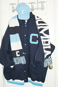 Colombia Lions University Stall And Dean Jacket Sz 6x + Hat And Scarf Lot New