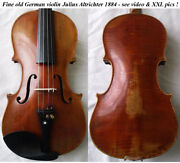 Fine Old German Violin Altrichter 1884 -see Video Antique Rare バイオリン скрипка 139