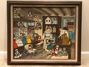 H. Hargrove Signed Andldquodoll House Andrdquo Painting Andndash 1986 Andndash 20andprime X 24andprime - 93/750