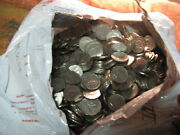 Huge Lot 5000 Coins Canadian 5 Cents Coins From King George Vi Er1937-1952.