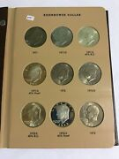 Eisenhower Dollar Collection W/clad And Silver Proof 32 Coins In Dansco Album