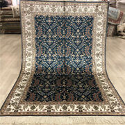 Yilong 4'x6' Turkish Silk Hand Knotted Carpets Antique Handmade Area Rugs 044b