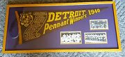 1940 Detroit Tigers World Series Rare Scroll Pennant - Professionally Framed