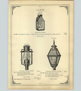 1890 Paper Ad S G And L Tubular Street Lamps New York Central Railroad Lantern