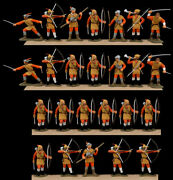 Marx Recast E.c.w. Group - 25 Professionally Painted 60mm Plastic Toy Soldiers