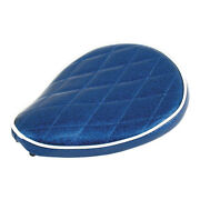 Le Pera Old School Solo Seat Moody Blue For Harley - Davidson