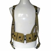 Ww2 Wwii Us Army Magazine Belt And Soldier Suspenders X Strap Military Reappear
