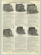 1908 Paper Ad 5 Pg Seneca Folding View Camera Leather Bellows Duo Shutters