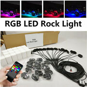4/6/8/10/12/16 Pods Rgb Offroad Led Rock Light Kit Multicolor Wireless Bluetooth