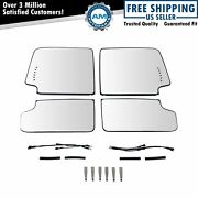 Towing Mirror Glass 4 Clip Mount Heated Upper And Lower Set Of 4 For Gm Truck