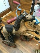 Antique Wooden And Metal Horse Tricycle--------------------------lc