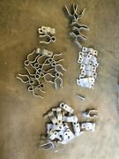 13 Sets Of 1-3/8andrdquo Chain Link Fence Hinges And Misc Fence Parts